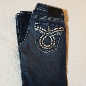 Big Star Jeans - Big Star Liv Slim Boot Leather Pockets Jeans 27R